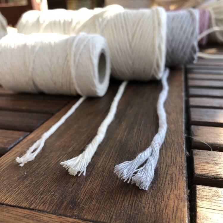 grubości sznurka